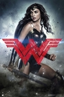 Batman vs Superman Poster Wonder Woman rotes Logo